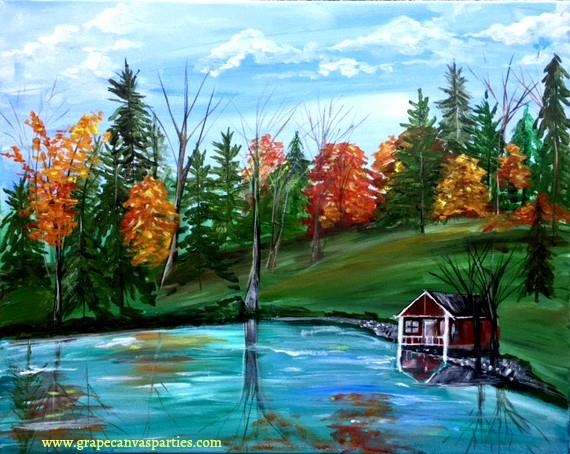 canvas-painting-lake